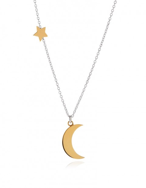 Astral half moon necklace AS13-GP/S