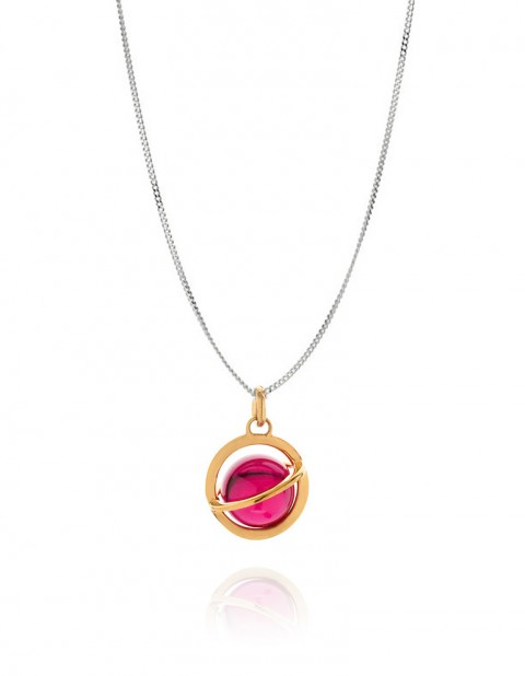 Astral medium orbit necklace with ruby AS19-GP/R/S