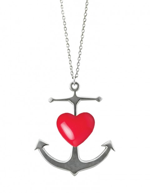 Anchor Heart Necklace AS02