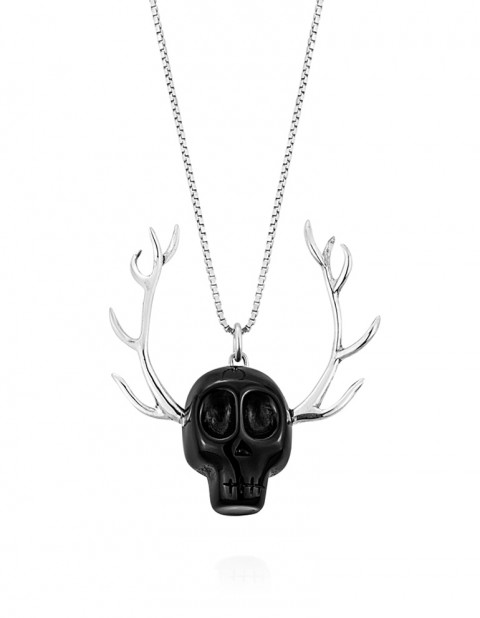 Skull Necklace SK08 Black