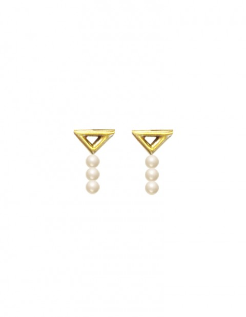 Kawak earrings long TR02- GP/SWP