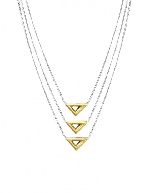 Ikal necklace triple TR09-GP/S