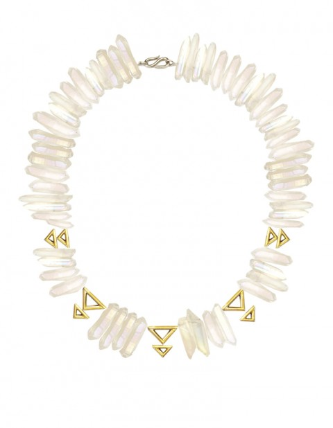 Oxomo white necklace TR16-GP/WTQ/S