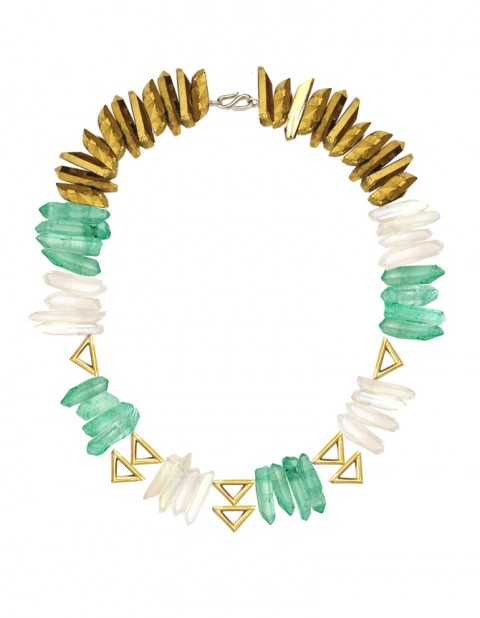 Oxomo green necklace TR17-GP/WTQ/GRQ/GDQ/S