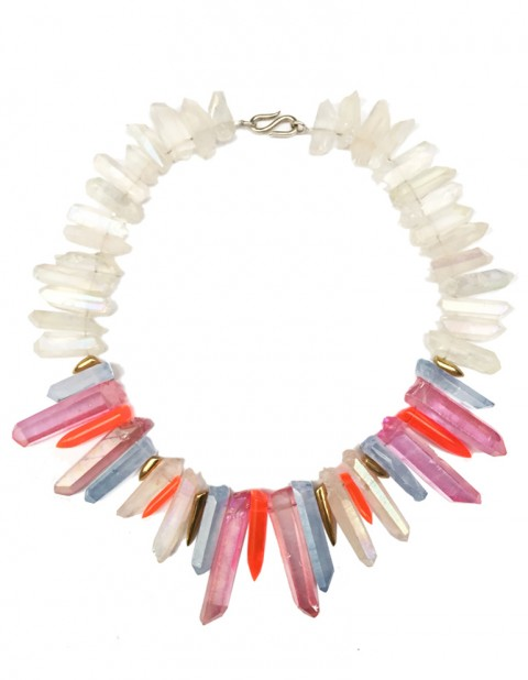 Tropical sunrise necklace TK29-WHQ/PKQ/LBQ/GP/RPX