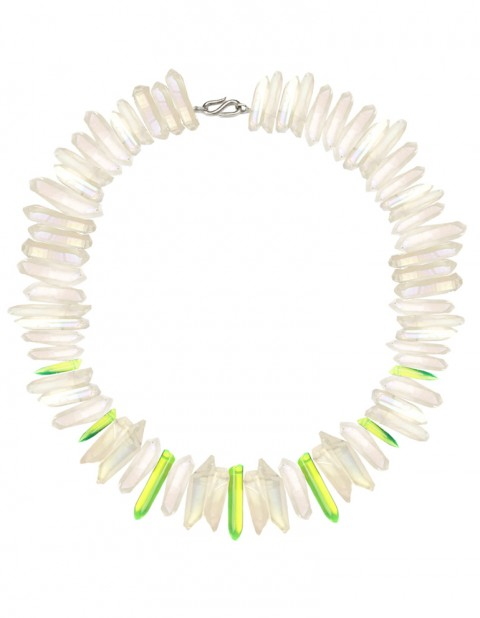 White and neon paradise necklace TK33-WHQ-YPX