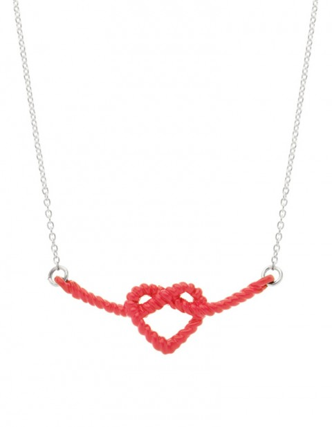 Little Lash Heart Knot Necklace LL01-R