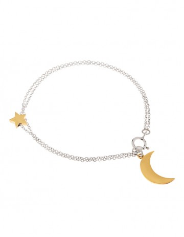 Astral half moon bracelet AS12-GP/S