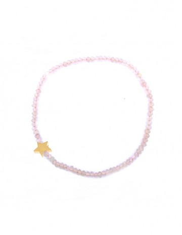 Astral small star bracelet with rose quartz AS33/1-GP/RQ