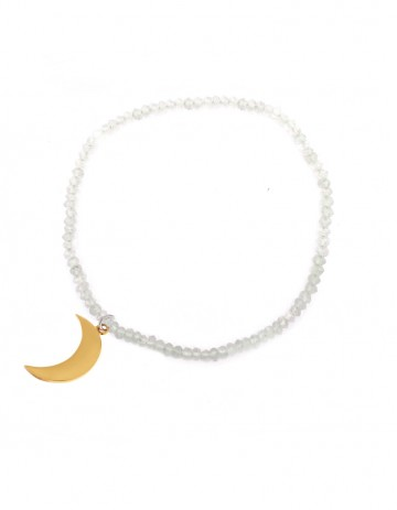 Astral half moon bracelet with moonstone AS44-GP/MS
