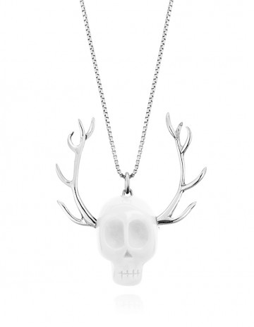 Skull Necklace SK08 White