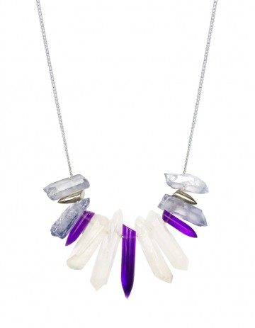 Purple tusk necklace TK26-WHQ/LBQ/S/PLPX/S